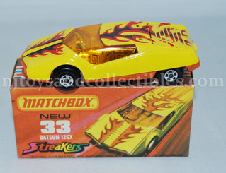 Matchbox #33 1973 Datsun 126X Diecast Vehicle Red/Orange Tempa