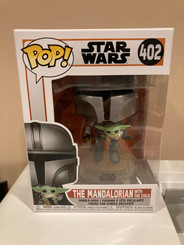 Star Wars Funko Pop The Mandalorian Flying with The Child #402