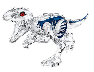 Lego Compatible 5-Inch Tyrannosaurus Rex in Clear Color