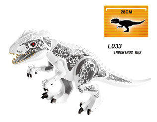 Lego Compatible 12-Inch Indominus Rex, White