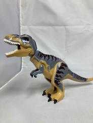 Lego Compatible 12-Inch Tyrannosaurus Rex, Tan/Grey