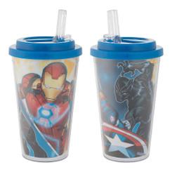 Marvel Avenger Assemble 16 oz. Flip Straw Acrylic Cup
