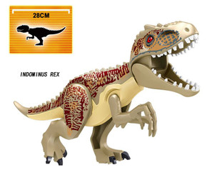Lego Compatible 12-Inch Tyrannosaurus Rex, Tan/Brown