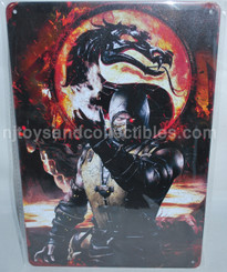 Mortal Kombat Scorpion 8x12 Inch Tin Sign