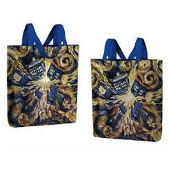 Doctor Who Van Gogh Exploding TARDIS Tote Bag