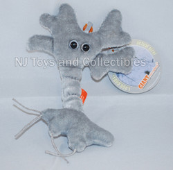 Giant Microbes Brain Cell Plush Keychain