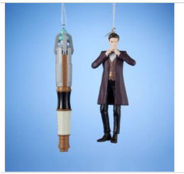Doctor Who Holiday Ornament: 11th Doctor and Sonic Screwdriver Gift Set