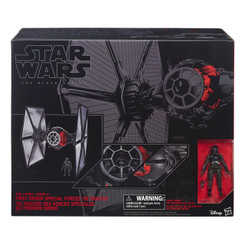 Star Wars Episode 7 Deluxe Vehicle: First Order TIE Fighter with Pilot (Not Mint Box)