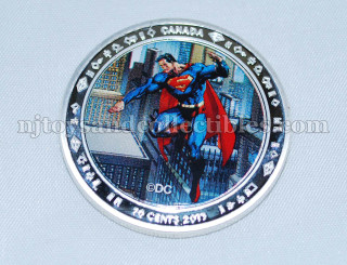 Superman 0.9999 Silver Clad Commemorative Coin
