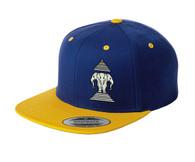 Xang Saam Hua Hat - Royal Blue & Gold