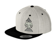 Xang Saam Hua Hat - Light Grey & Black