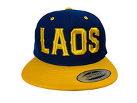 Laos Puff 3D Hat - Blue & Gold