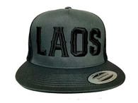 Laos Puff 3D Hat - Grey & Black