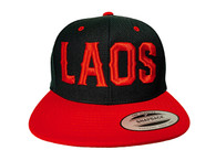 Laos Puff 3D Hat - Black & Red