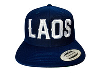 Laos Puff 3D Hat - Navy Blue & White