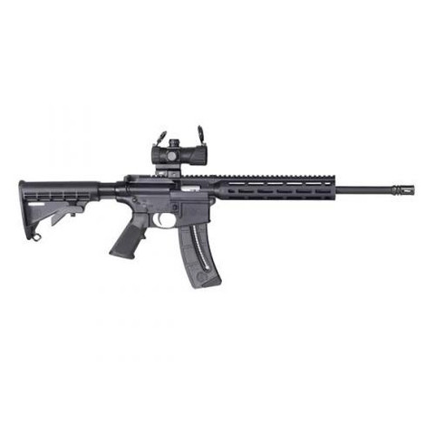 Smith & Wesson M&P AR 15-22 Model  12722 With Red/Green Dot Scope and 25 round Magazine.