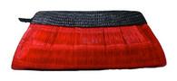 Red Bulaklak Hand Woven Clutch