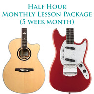 Guitar Monthly Lesson Package (5 week month) Half Hour