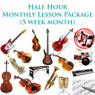 Music Monthly Lesson Package (5 week month) Half Hour