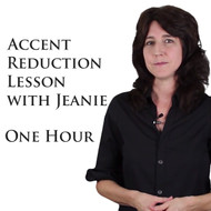 One Private Accent Reduction Specialist Session - Jean Bachrach (1hour)