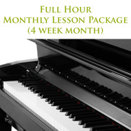 Piano Monthly Lesson Package (4 week month) Full Hour