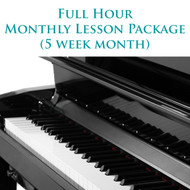 Piano Monthly Lesson Package (5 week month) Full Hour
