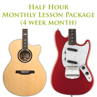 Guitar Monthly Lesson Package (4 week month) Half Hour