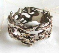 """Alien Nature"" Silver Ring with Copper"