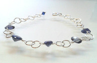Faceted Iolite Bracelet