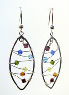 Chakra Leaf Earrings