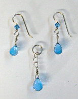 """London Blue"" London Blue Topaz - Pendant & Earring Set"