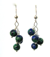 Azurite-Malachite Cluster Earrings