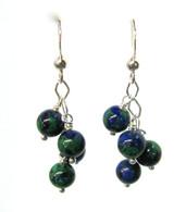 Azurite-Malachite Cluster Earrings