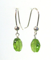 Faceted Peridot Drop Earrings
