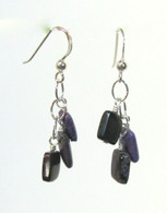 Sugilite Square Cluster Earrings