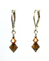 Copper Swarovski Earrings