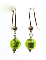 Lime Green Murano Earrings