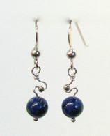 Swirly World Azurite-Malachite Earrings