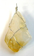 Citrine Point Wrap Pendant
