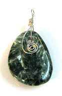 Seraphinite Drilled Pendant