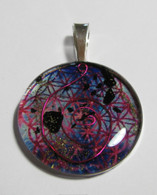 Orgonite Pendant - Pink Fire