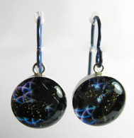 Orgonite Earrings - Blue Borealis