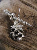 Silver Cast Pine Pendant - Small