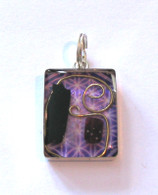 Orgonite Pendant - Purple Vibe Square