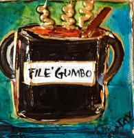 File Gumbo mini painting