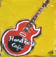Hard Rock Cafe mini painting