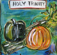 Holy Trinity mini painting
