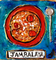 Jambalaya mini painting