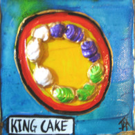 King Cake mini painting