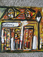 Lafitte's Blacksmith Shop mini painting